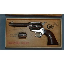 """Colt SAA Frontier Scout, .22 and .22 Mag., nickeled, 4 3/4"""", sn: 42769K"""