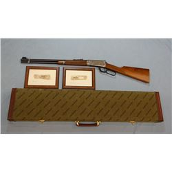 """Win. 94 Trapper Great Artists #1 rifle, .30-30, 20"""" bbl, engraved receiver, checkered wood, w/orig."""