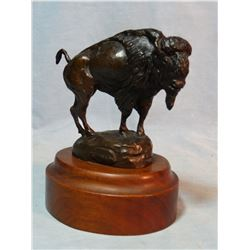 "Cheek, C. R. bronze, Buffalo, 4"" h x 4 1/2"" w, #13/50, rare, est. $300-400"