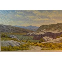 """Fritz, Charles, oil on canvas, Wyoming Coulee, 16"""" x 24"""", est. $3000-4000"""