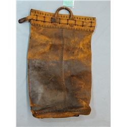 Railroad/Stagecoach leather mail /bank bag found in Wells Fargo Bldg in Virginia City, MT