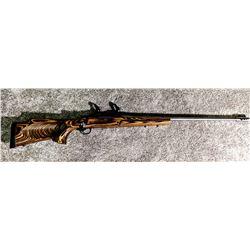 Remington 700 VLS, .26 Nosler, stainless, fluted bolt, thumbhole stock, muzzle break