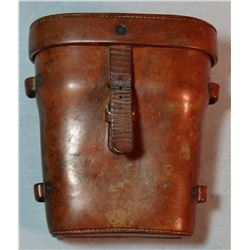F. A. Meanea leather binocular case, made for Gerrad Ranch owner, written provenance, good Meanea ma