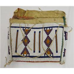 "Arapaho beaded envelope, 10"" x 12"", canvas lined, 1885-1890"