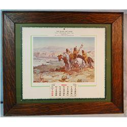 1968 Great Falls, C. M. Russell calendar, framed