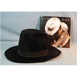 """John B. Stetson felt cowboy hat, stamped Hamley & Co., 6"""" crown, 3 1/4"""" brim, w/David Stoeklein Hat"""