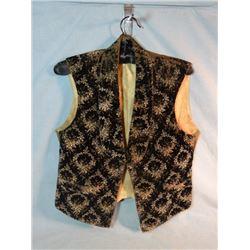Gambler's vest, ca. 1880-1890 w/buckle back