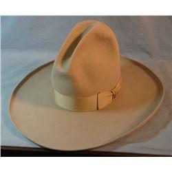 "Tom Mix-style Stetson felt hat, 8"" crown, 5"" brim, size 7 1/4"