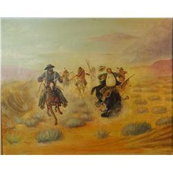 "Beeler, Joe (1933-2006) original oil, When A Good Horse Counts, 1951, 18"" x 24"","