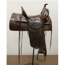 "R. H. Richards, Malta, MT highback saddle, loop seat, 15"","