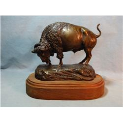 "Scriver, Bob bronze, Rex's Bull, 7"" h x 8 1/2"" w x 4"" deep, #73/100, est. $800-1000"