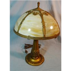 Slag glass table lamp, Montana Hotel, Reed Point, MT
