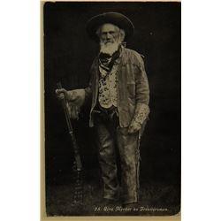 "Ezra Meeker Mountain Man, orig. cabinet photo, , 5 1/2"" h x 4"" w, framed"