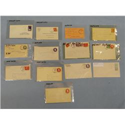 Pondera County, M. T. postal collection, 13 post cards etc, 1883-1939