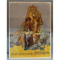 "Stetson hat poster, 32"" h x 24"" w"