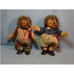 """2 Stieff dolls, 10"""" h each, one w/original tag"""