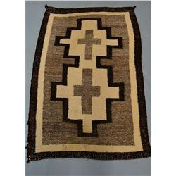 "Navajo rug, 34"" x 49"", loose stitching lower left corner"