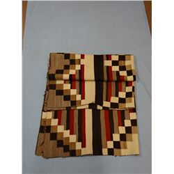 """Large Navajo rug, 58"""" x 72"""", some repairs on edges, few holes"""