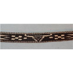"MT State Penitentiary 40"" hitched horsehair belt, buffalo skull designs"