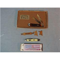 2 Case knives, Teddy Roosevelt Ltd Ed. #475, NIB and King Ranch pocket knife, NIB
