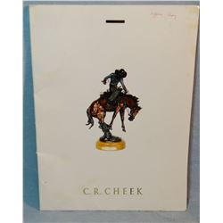 C. R. Cheek bronze sculpture catalog
