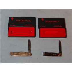 2 Winchester pocket knives, made in USA