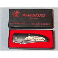 "Winchester 3 blade whittler pocket knife NIB and Win. 94 Comm. 4"" liner lock folding knife, NIB"