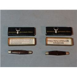 "2 Browning #2518 pocket knives, NIB, 3 1/2"" blade"