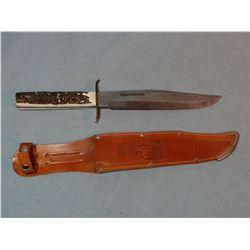 """Edge bowie knive, German steel, 8"""" w/sheath, new"""