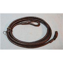 Braided kangaroo hide bosal lead rope/rein, prison made