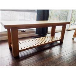 Custom-built oak bench