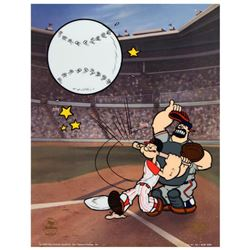 """""""Homerun Popeye, Reds"""" Limited Edition Sericel from King Features Syndicate, Inc., Numbered with COA"""