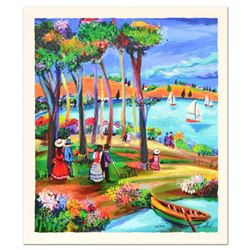 """Shlomo Alter, """"Afternoon Stroll"""" Limited Edition Serigraph, Numbered and Hand Signed with Certificat"""