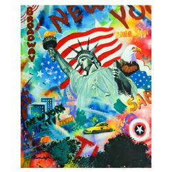 "Nastya Rovenskaya- Mixed Media ""Statue Of Liberty"""
