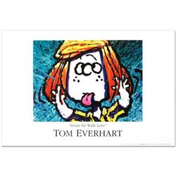 """""""From Sir With Love"""" Fine Art Poster by Renowned Charles Schulz Protege Tom Everhart."""
