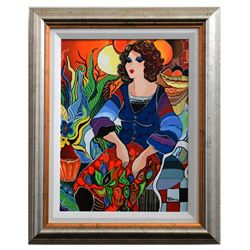 "Patricia Govezensky- Original Acrylic on Canvas ""Priscilla"""
