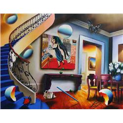 """Ferjo """"DINING WITH CHAGALL"""" Giclee on Canvas"""