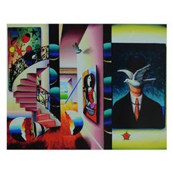 """Ferjo, """"Man in the Bowler Hat"""" Limited Edition on Canvas, Numbered and Signed with Letter of Authent"""