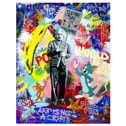 """Nastya Rovenskaya- Original Oil on Canvas """"You May Say I'm a Dreamer"""""""