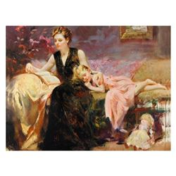 """Pino (1931-2010), """"Precious Moments"""" Limited Edition on Canvas, Numbered and Hand Signed with Certif"""