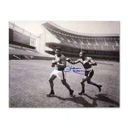 """Must-Have Signed Sports Photo. """"Ken Norton and Ali, Yankee Stadium"""" Hand-Autographed by Ken Norton ("""