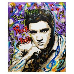 """Nastya Rovenskaya- Original Oil on Canvas """"The King of Rock N Roll"""""""