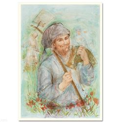 """""""Man with Hoe"""" Limited Edition Lithograph by Edna Hibel (1917-2014), Numbered and Hand Signed with C"""