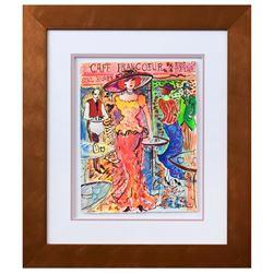 "Patricia Govezensky- Original Watercolor ""Cafe Francoeur"""