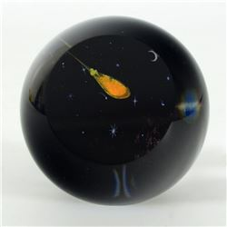 "Glass Eye Studios, ""Shooting Star"" Hand Blown Glass Paperweight (Second)."