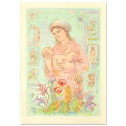 "Edna Hibel (1917-2014), ""Raquela"" Limited Edition Lithograph on Rice Paper, Numbered and Hand Signed"