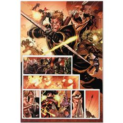 "Marvel Comics ""Secret Invasion #7"" Numbered Limited Edition Giclee on Canvas by Leinil Francis Yu wi"