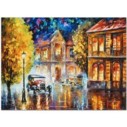 "Leonid Afremov (1955-2019) ""Los Angeles 1930"" Limited Edition Giclee on Canvas, Numbered and Signed."