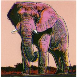 "Andy Warhol- Screenprint in colors ""African Elephant"""