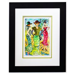 "Patricia Govezensky- Original Watercolor ""Modeling"""